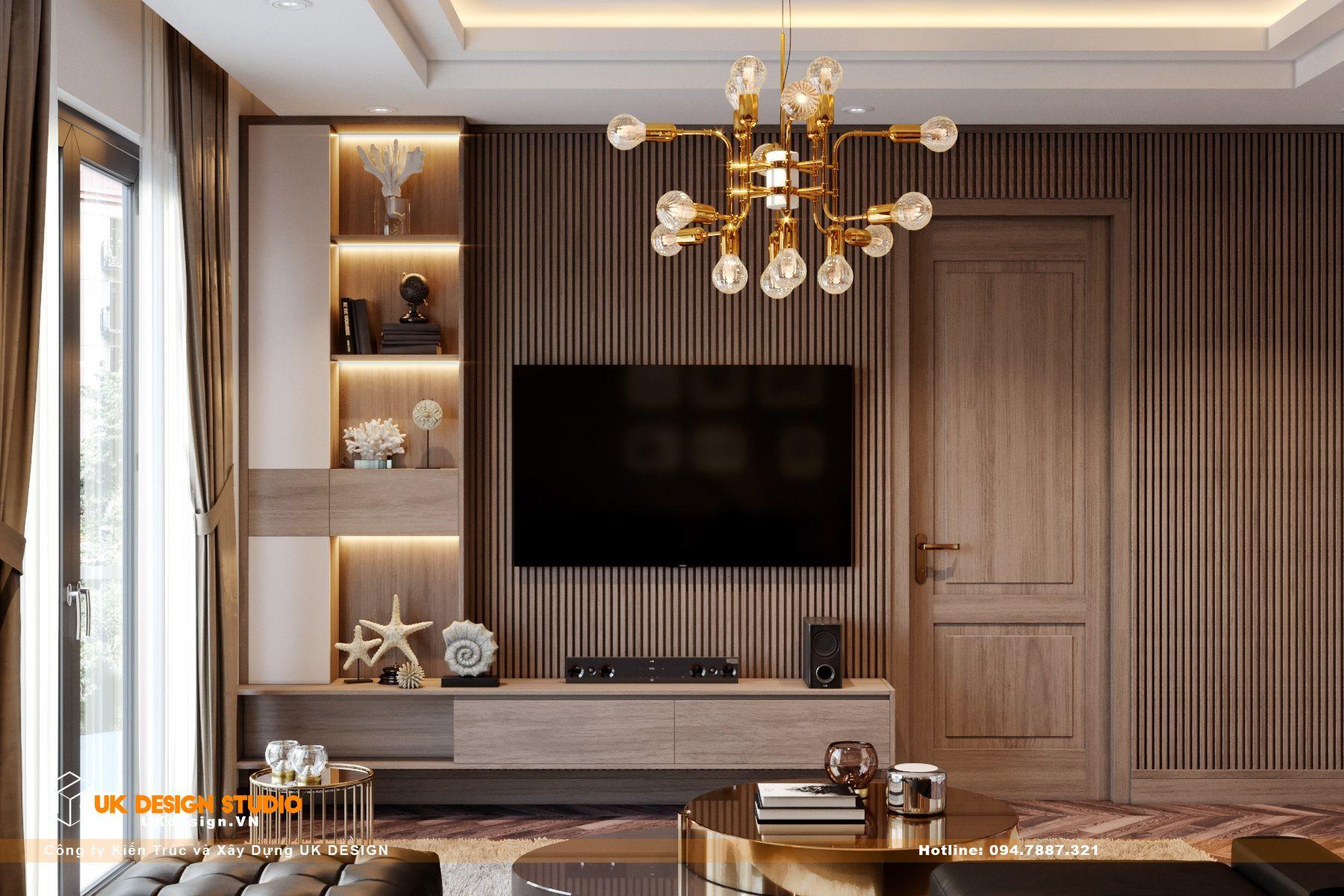 Thiết kế nội thất biệt thự nhà đẹp 3 tầng ở Quận 8 - Phòng sinh hoạt chung 1