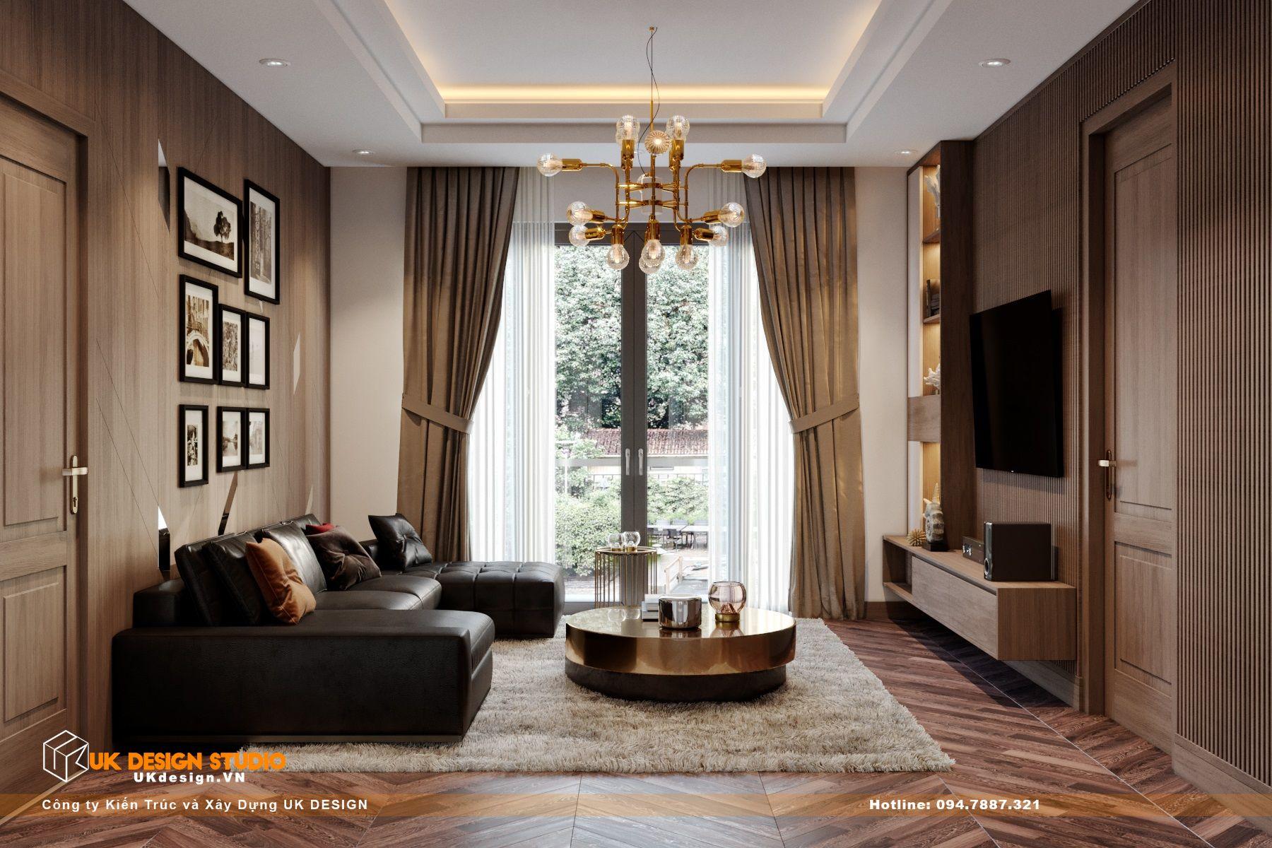 Thiết kế nội thất biệt thự nhà đẹp 3 tầng ở Quận 8 - Phòng sinh hoạt chung 12