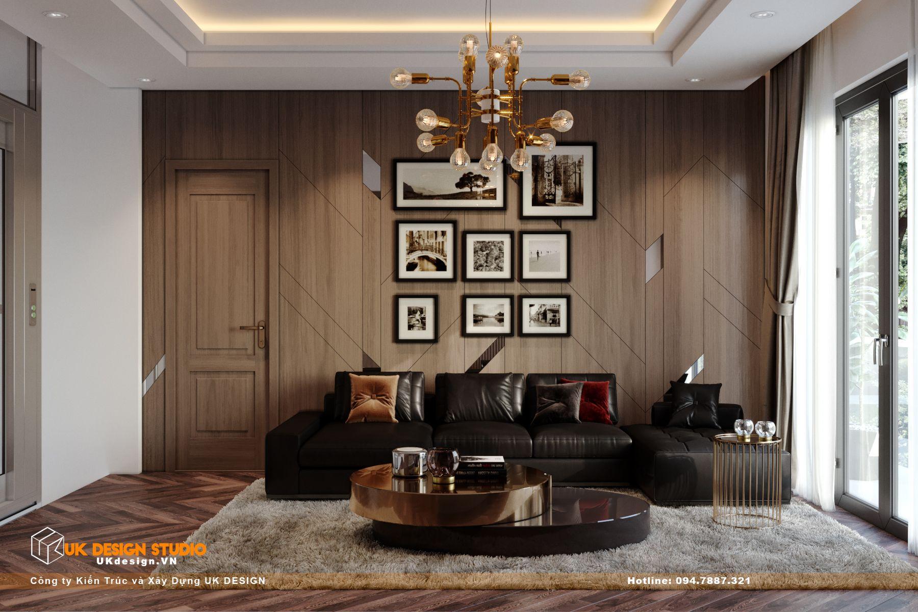 Thiết kế nội thất biệt thự nhà đẹp 3 tầng ở Quận 8 - Phòng sinh hoạt chung 13