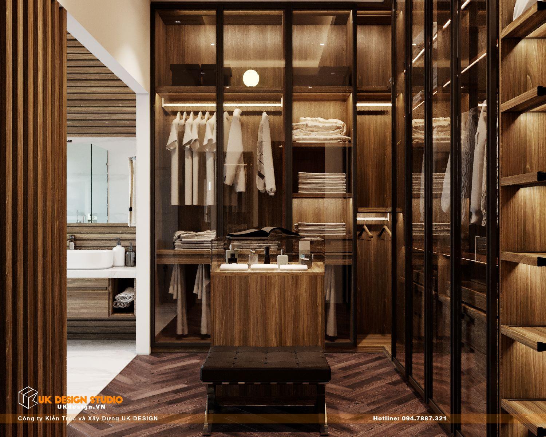 Thiết kế nội thất biệt thự nhà đẹp 3 tầng ở Quận 8 - Phòng ngủ master 14