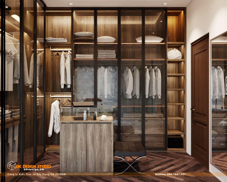 Thiết kế nội thất biệt thự nhà đẹp 3 tầng ở Quận 8 - Phòng ngủ master 15