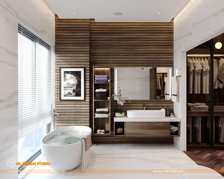 Thiết kế nội thất biệt thự nhà đẹp 3 tầng ở Quận 8 - Phòng ngủ master 16