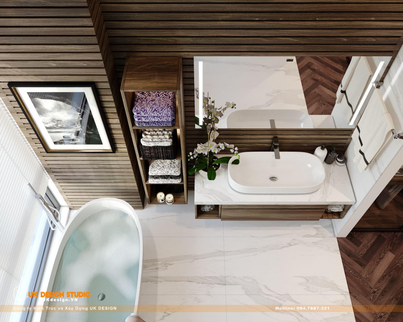 Thiết kế nội thất biệt thự nhà đẹp 3 tầng ở Quận 8 - Phòng ngủ master 18