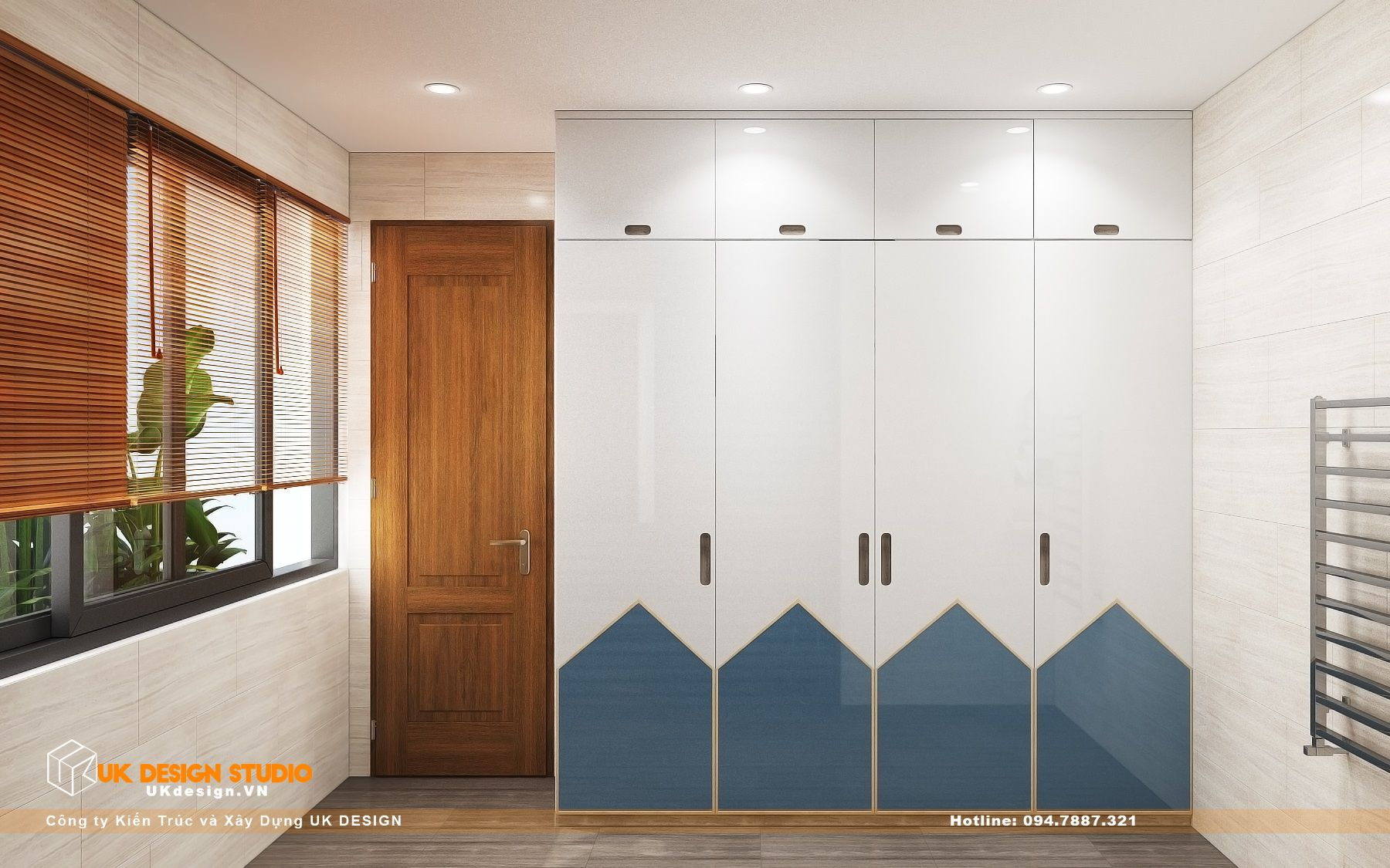 Thiết kế nội thất biệt thự nhà đẹp 3 tầng ở Quận 8 - Phòng ngủ con trai 16