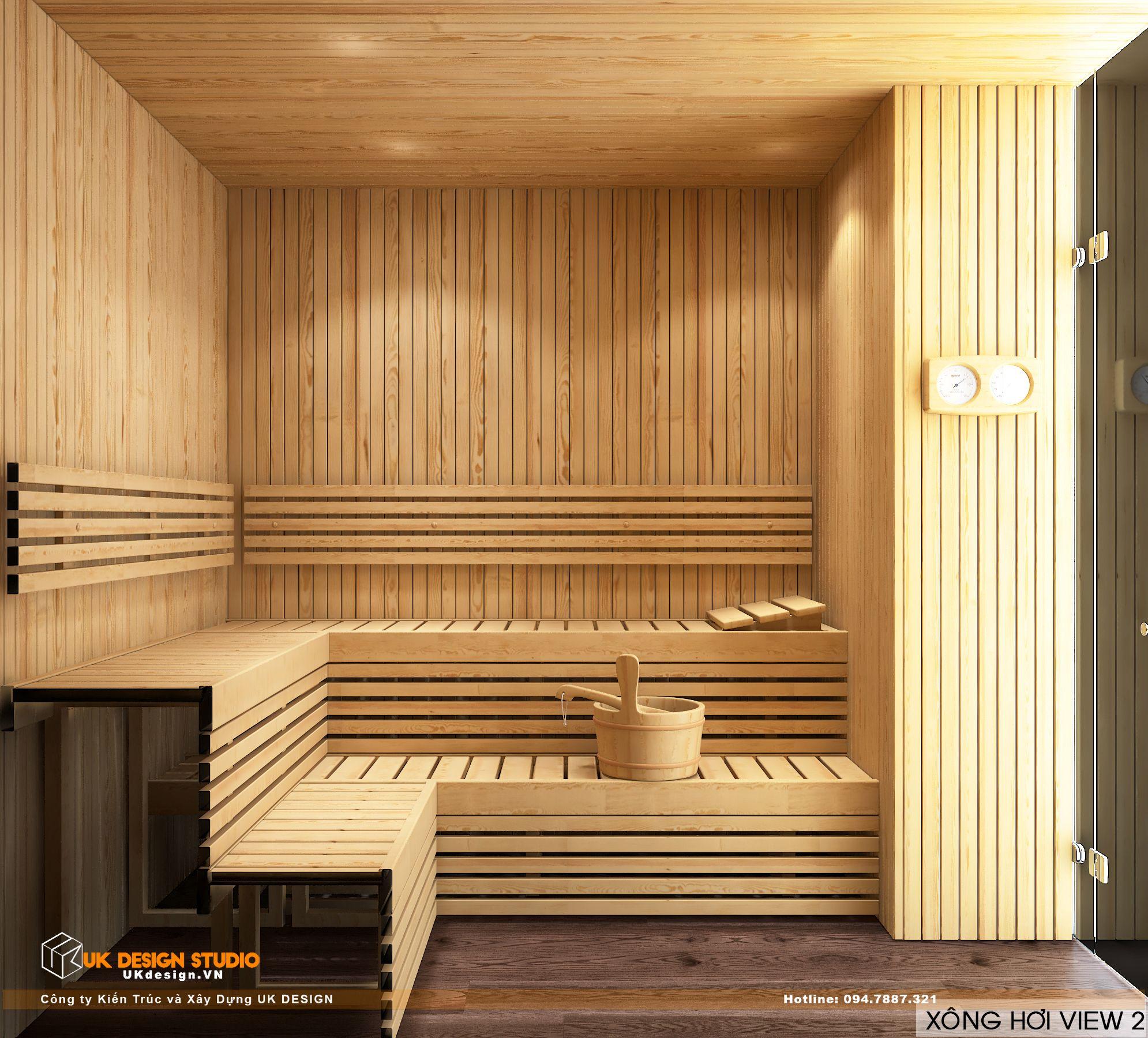 Thiết kế nội thất biệt thự nhà đẹp 3 tầng ở Quận 8 - Phòng sông hơi 1