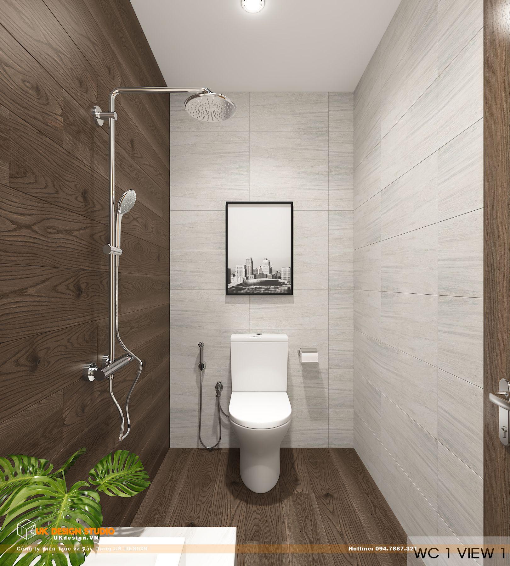 Thiết kế nội thất biệt thự nhà đẹp 3 tầng ở Quận 8 - phòng wc 1